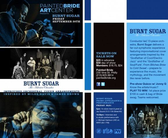 Burnt Sugar at The Pained Bride Art Center, JazSound & WRTI